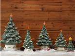 Order Light up Christmas Trees/Tress with trucks and Wreaths