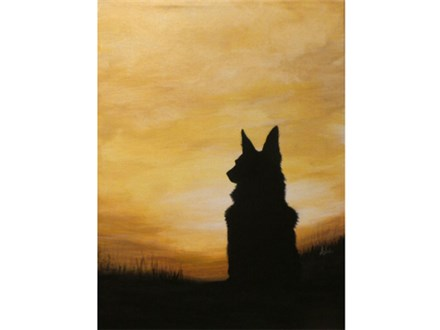 """Pet Silhouette - welcome to bring a xerox copy of your pet. Image of pet should be approx. 4"""" x 7"""""""