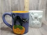 Halloween Cat Mug - Ready to Paint