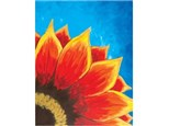 Canvas & Wine Night! - Red Sunflower!  5/23/16