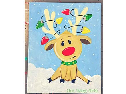 Kids Class: Reindeer Canvas