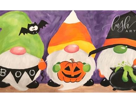 Halloween Gnome Paint Class - WR