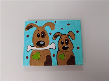 Puppy Love Mommy/Daddy & Me Canvas Class $40 (age 4 and up)