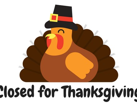 Happy Thanksgiving! Studio Closed November 22 & 23