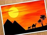 Egyptian Sunset-- Canvas & Cocktails