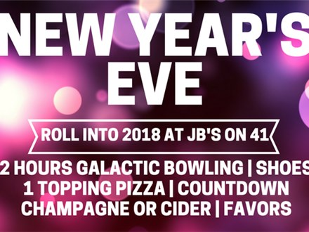 JB's New Year's Eve Party Packs to Roll into 2018