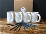 PoGo Kits: Paint Your Own Pottery ToGo! (4 Regular Joe Mugs)