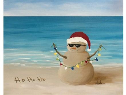 Beach Sandman - choice design for hat, colors, etc. (16x20 canvas)
