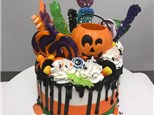 A Date with Cake: Bring your BOO! Halloween Candy Drip Cake