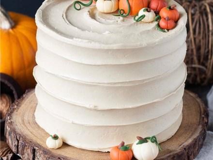 Adult Natural Texture Cake Techniques Pumpkin Spice Cake