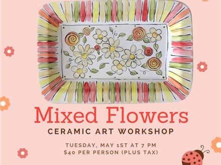 Pottery Technique Class - Mixed Flowers
