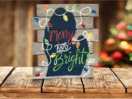 """""""Merry & Bright Michigan"""" BYOB event ages 21 & up 12/9/20"""