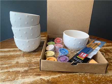 PoGo Kits: Paint Your Own Pottery ToGo! (Polka Dot Bowl(s))