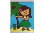Hula Girl Kids Canvas - 08/25