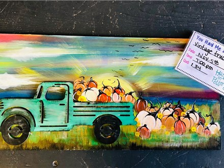 You Had Me at Merlot - Vintage Truck Sunset - Nov. 5th