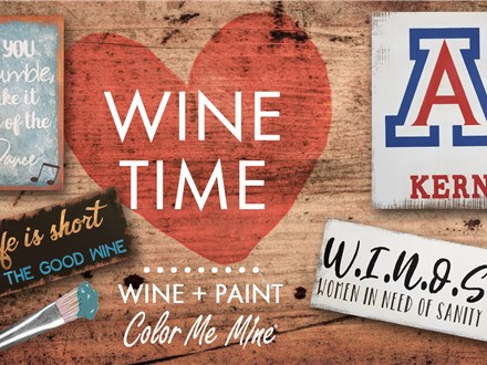 Wine Time Board Painting