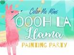 Llama Painting Party