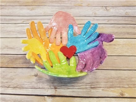Clay Hand-print Bowl Workshop 7/8/20