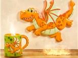 """"""" Dragon Mug"""" To-Go Kit- at Color Me Mine - Aspen"""