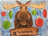 Christmas Moose Canvas Event