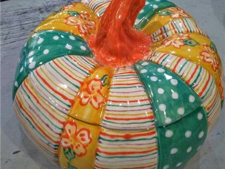 Ceramic Patchwork Pumpkin