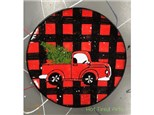 Pottery Painting: Vintage Truck Plate