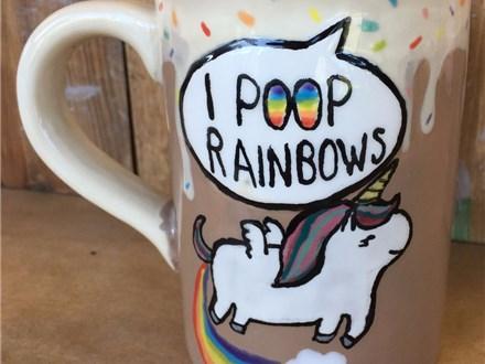 Family Pottery - Rainbow Unicorn Mug - Evening Session - 08.11.17