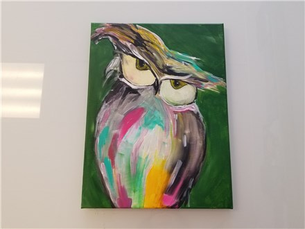 Up Owl Night Canvas Class $35 (Adult)