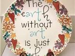 ART pottery plate.