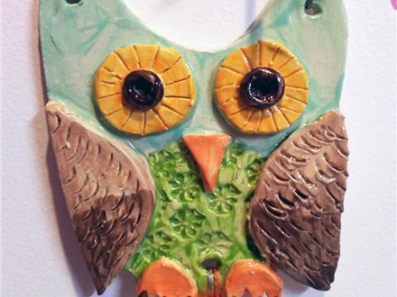 Kid's Clay Owl Hangers