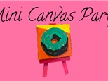 """3""""x3"""" Canvas Painting Party"""