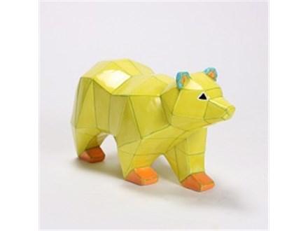 """ Faceted Bear"" To-Go Kit- Color Me Mine - Aspen"