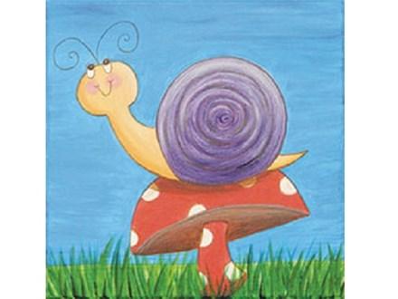 Summer Kids' Canvas Class! Happy Snail! 6/13/18