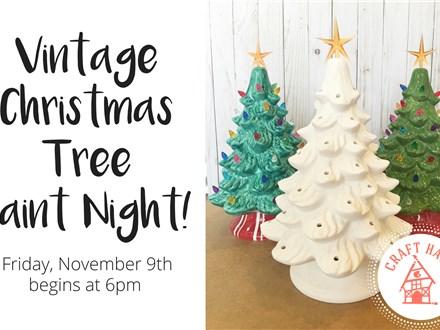November Vintage Light Up Christmas Tree Paint Night