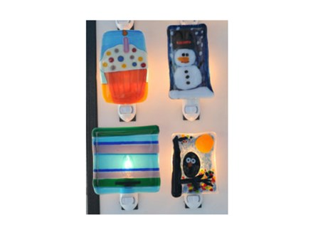 Fused Glass Night Light Party
