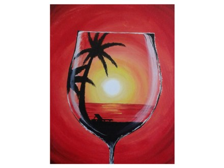 Through a Wine Glass - Paint & Sip - Feb 2