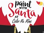 Paint with Santa December 1st at Color Me Mine - Schaumburg, IL