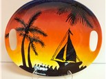 August 20th Adult Pottery Workshop - Sunset Sailboat