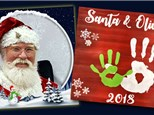 Santa and Me Handprints - December 1st