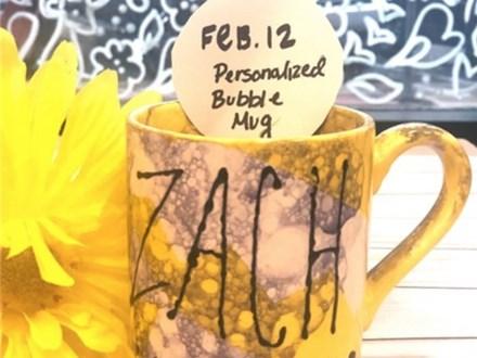 Art Club Personalized Bubble Mug-- Week 2