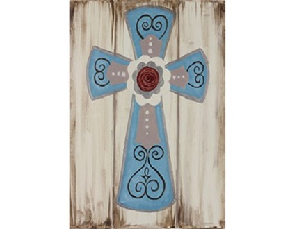 Rustic Cross Family Canvas