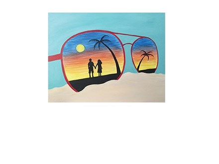 Sand and Sunglasses - Canvas - Paint and Sip