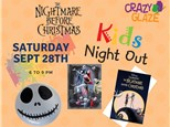 Ticket for Crazy Glaze Studio's Kids Night Out Sept 28th