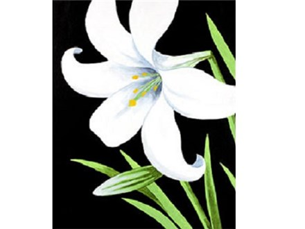 Canvas & Wine Night!  Easter Lily!  4/6/17