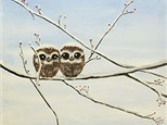 Adult Canvas Night November 27th Owl Babies