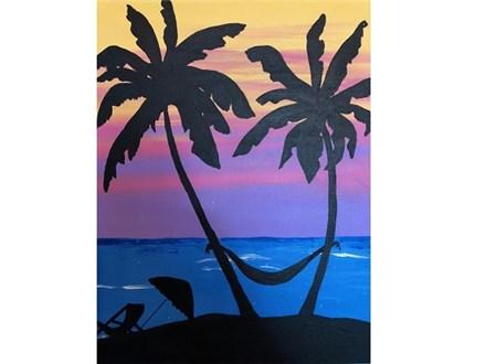 Canvas & Wine Night! Paradise Found - Part 1! 5/29/18