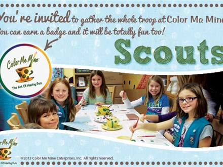 Scout Events at Color Me Mine