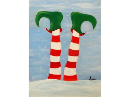Elf Feet - Colors can be reversed (12x16 canvas)