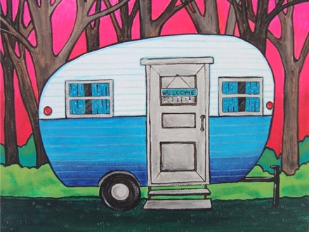 Camping Lovers Canvas