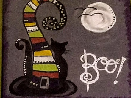 BOO!  Canvas